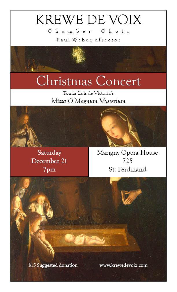 Krewe De Voix Christmas Concert Marigny Opera House